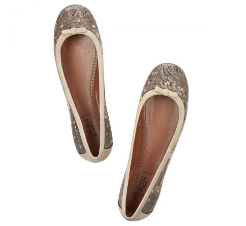Alaia Teju Lizard Ballet Flats