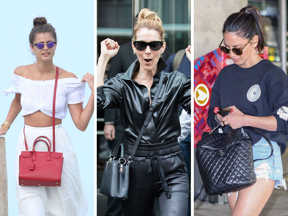 33341b738ec0 Celebs Mostly Eschew Color and Stick to Classic Black Bags from Chanel