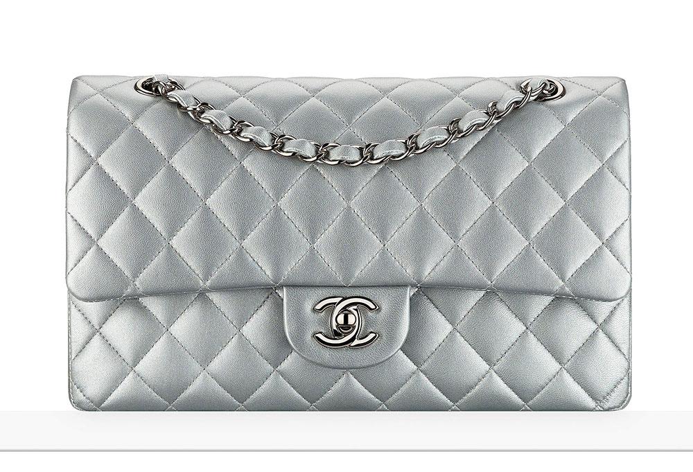 ab4c7eb8780f98 Chanel-Classic-Flap-Bag-Silver-4900 - PurseBlog