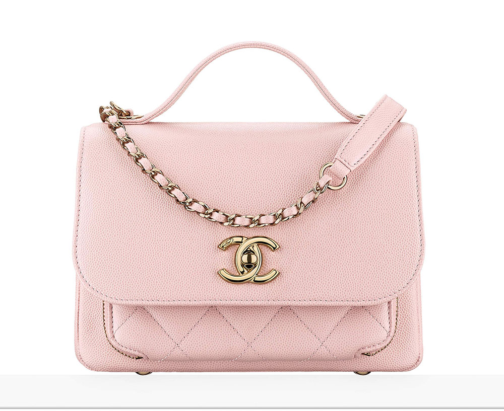 Chanel Flap Bag With Top Handle Pink 3100