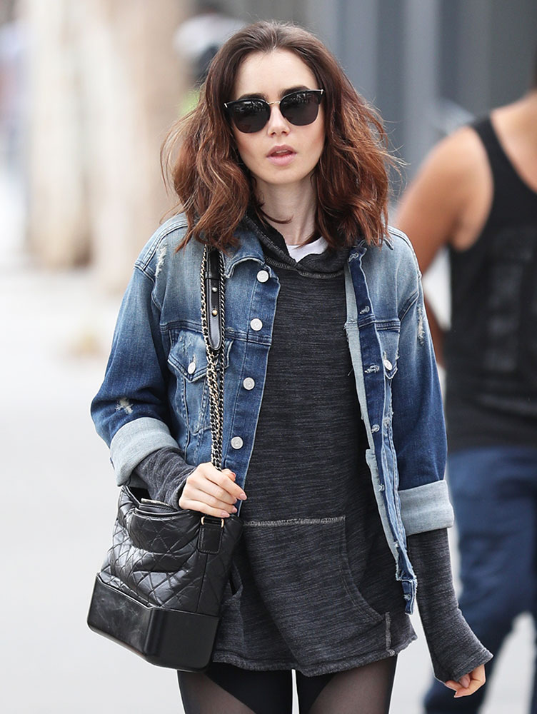 separation shoes new style & luxury best price Just Can't Get Enough: Lily Collins and Her Chanel Gabrielle ...