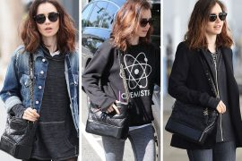 Just Can't Get Enough: Lily Collins and Her Chanel Gabrielle Bag
