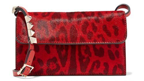 Valentino Studded Leopard Print Bag