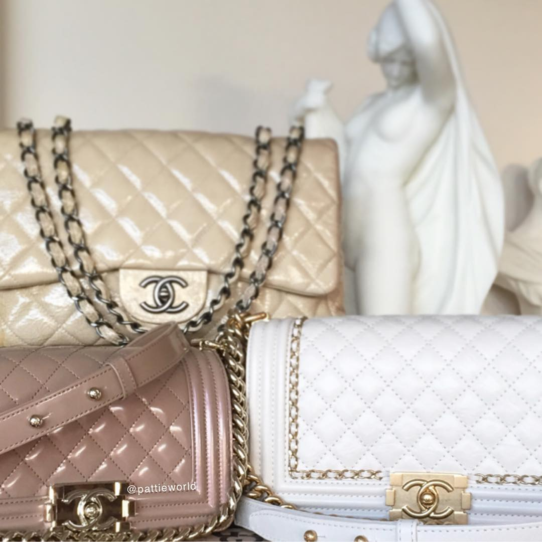 6cc946730896 @pattieworld's impeccable collection of neutral Chanel bags is perfectly in  every way!