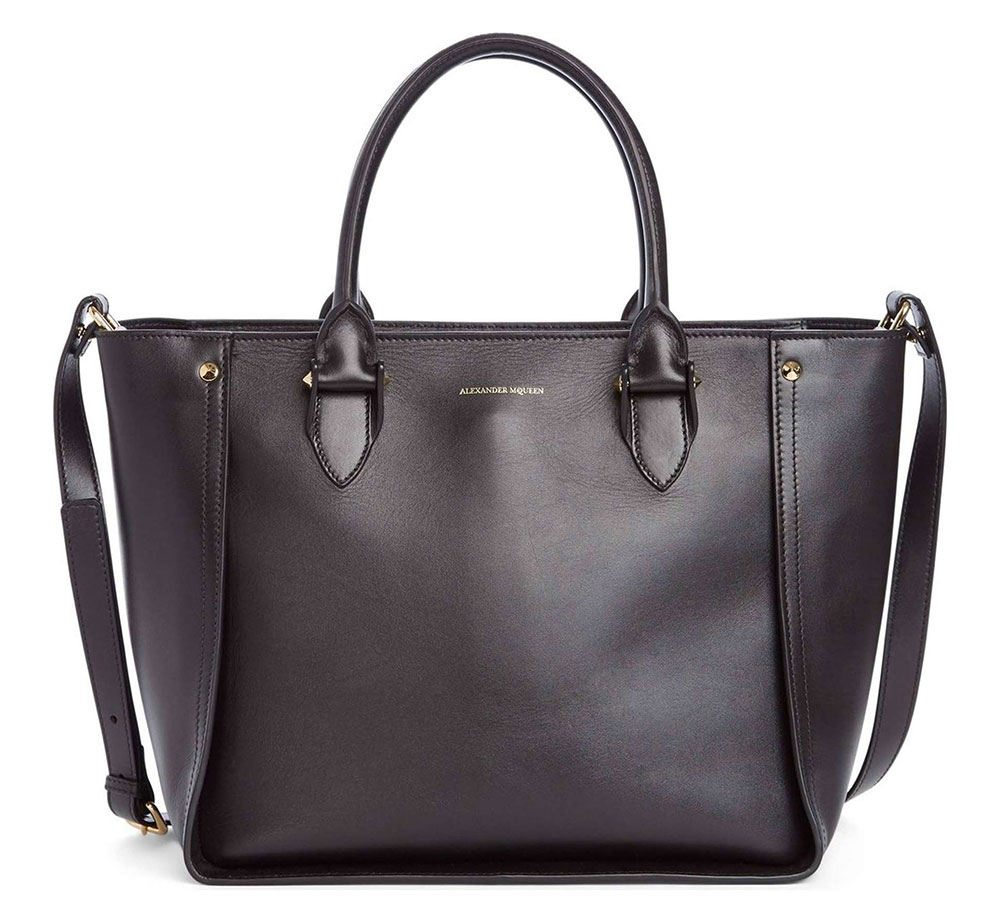 Alexander Mcqueen Inside Out Leather Tote