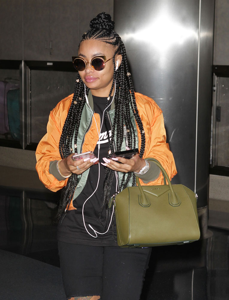 ccc0a9814f Celebs Run Errands and Nosh Sushi with Bags from Chanel