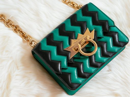 Up Close with the Salvatore Ferragamo ZigZag Mini Flap Bag