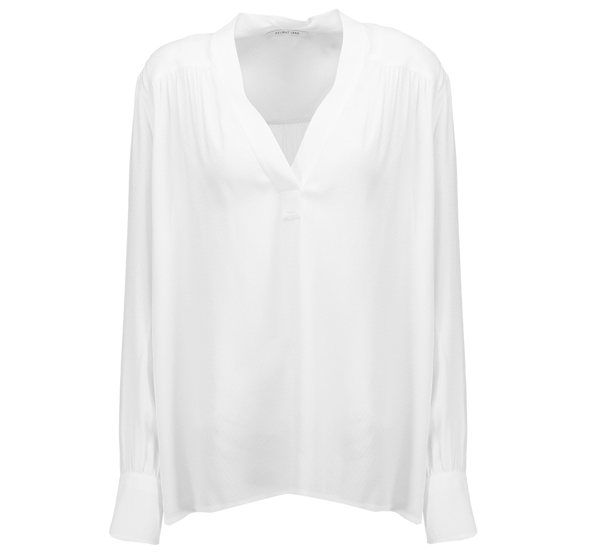 Helmut Lang Gathered Jacquard Blouse
