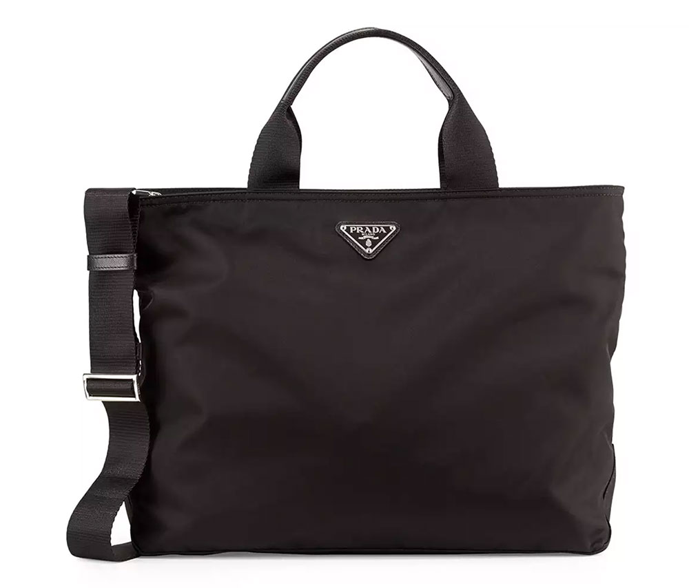 Prada Medium Nylon Tote 950 Via Neiman Marcus