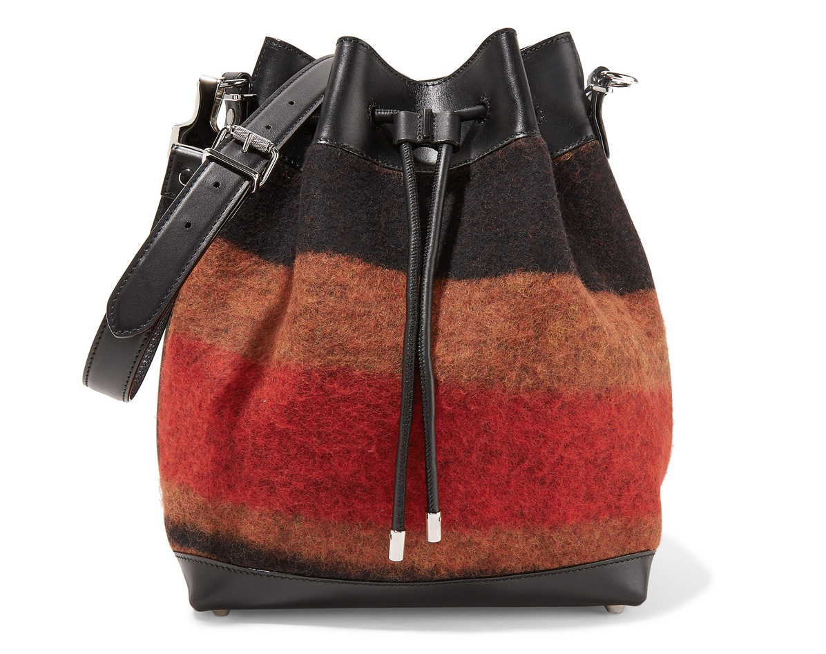Proenza Schouler Wool-blend and Leather Bucket Bag