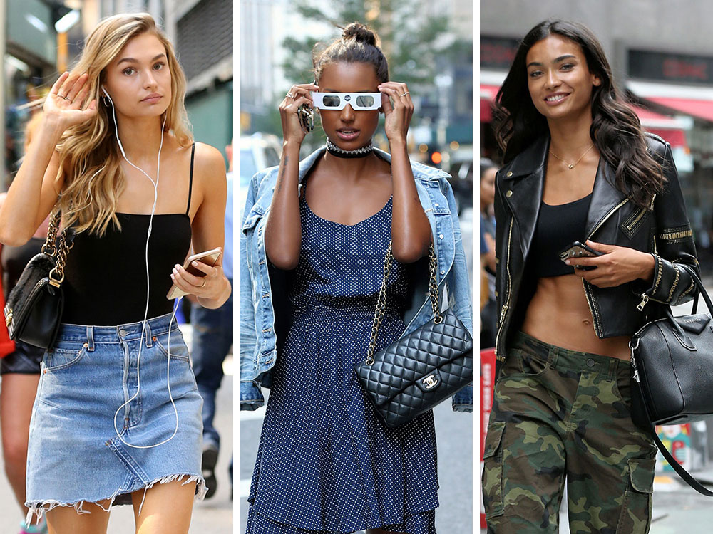 67e2d77fd297 Aspiring Victoria s Secret Angels Flock to NYC with Bags from Gucci ...
