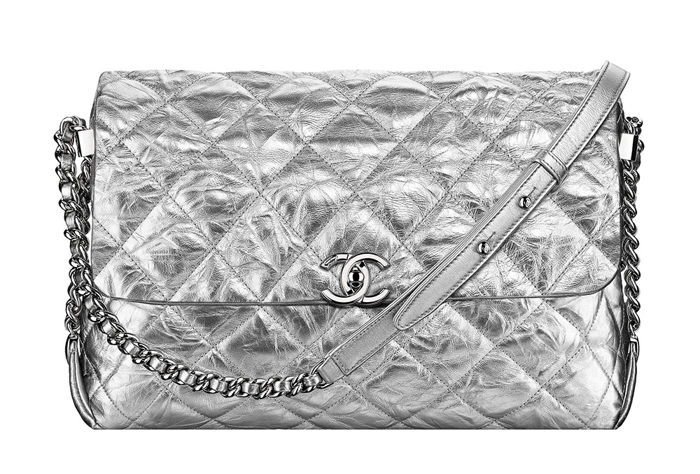 Chanel Flap Bag Silver 3600