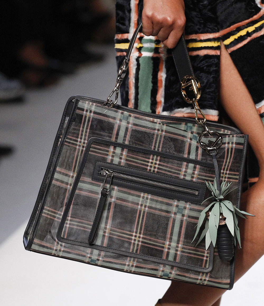 Fendi S Spring 2018 Bags Use Logos And Plaid To Spice Up