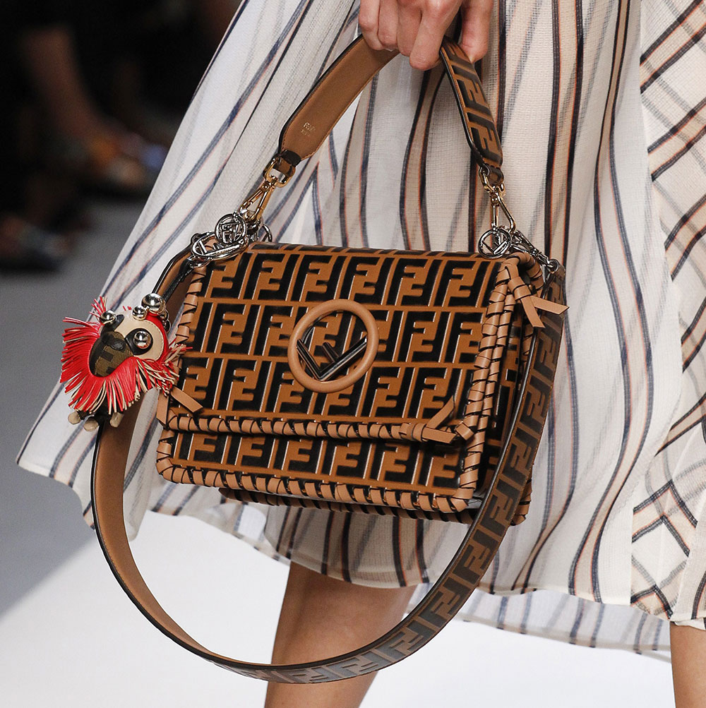 a8903f48c82c Fendi s Spring 2018 Bags Use Logos and Plaid to Spice Up Peekaboos ...
