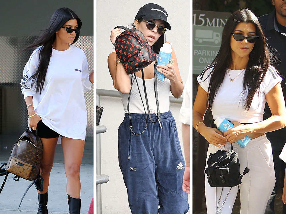 Just Can t Get Enough  Kourtney Kardashian Loves Her Mini Backpacks ... ab95a685924c2
