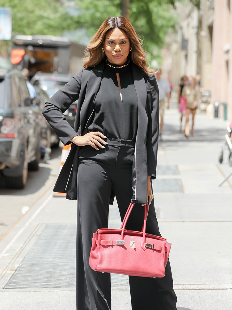 93d03f1a93bd ... best price laverne cox hermes shoulder birkin red purseblog fbef7 c501c