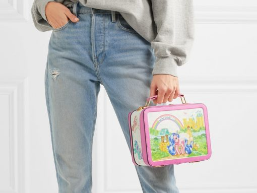 0837bcf8551 Moschino My Little Pony Lunchbox printed leather shoulder bag
