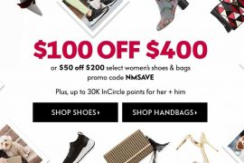 Take Up to $100 Off Handbags and Shoes at Neiman Marcus!