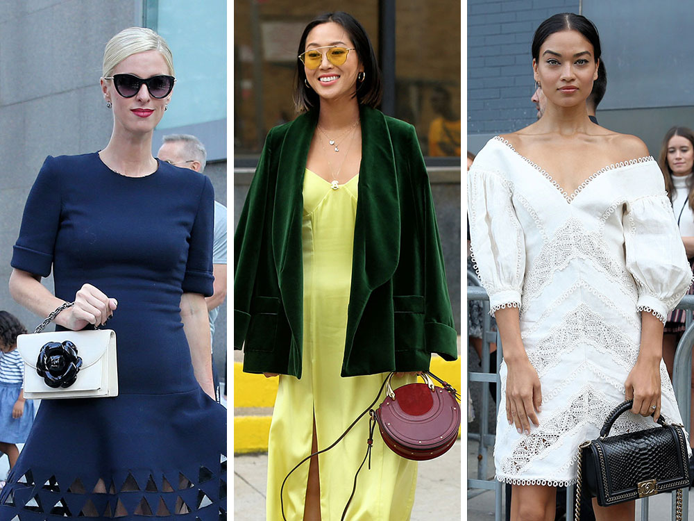 The Many Bags Of New York Fashion Week Spring 2018 S Celebrity Attendees Purseblog