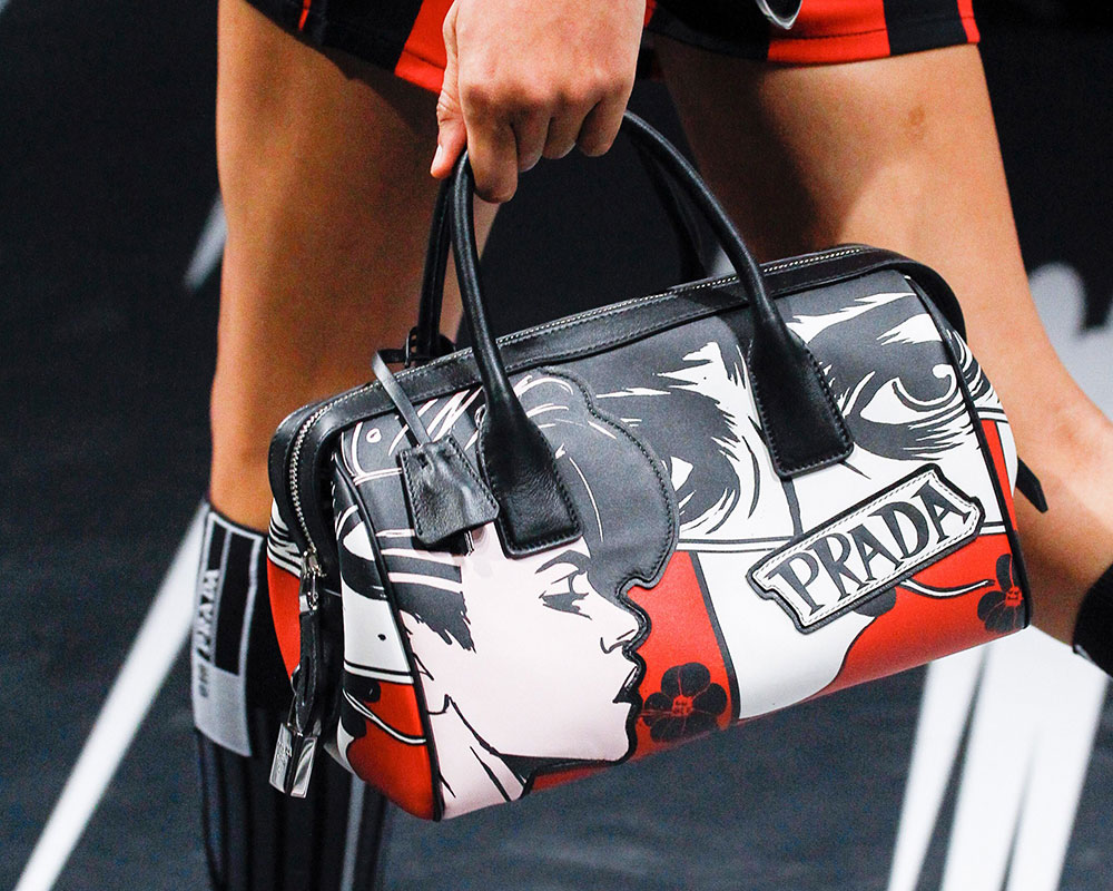 431d59127053 Prada s Spring 2018 Runway Bags Included Lots of Nylon and a Cast of ...