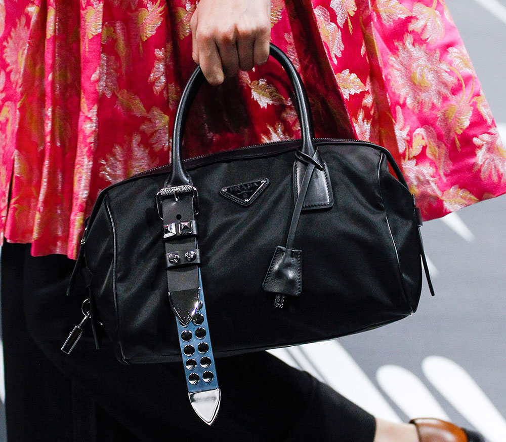 0d5b8a0cd178 Prada s Spring 2018 Runway Bags Included Lots of Nylon and a Cast of ...