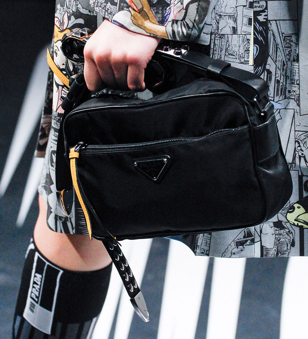 51075a691fb4d5 Prada's Spring 2018 Runway Bags Included Lots of Nylon and a Cast of ...