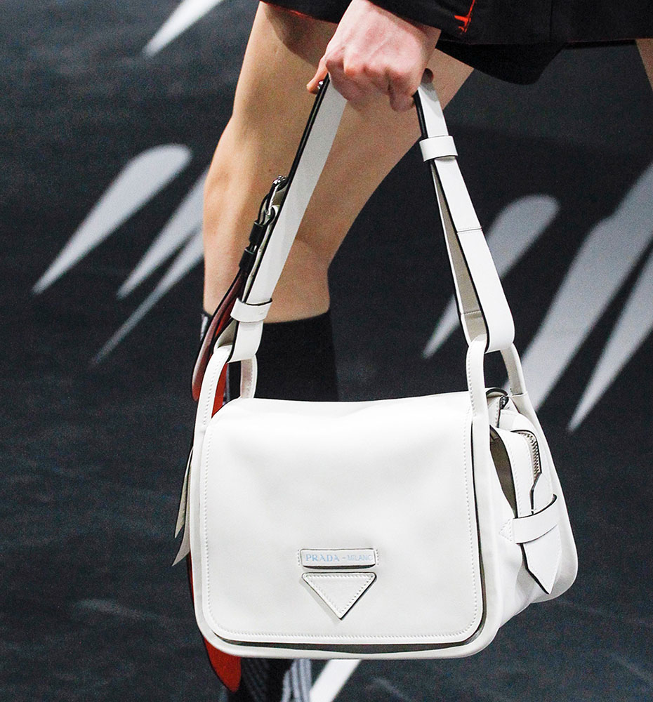 ... official prada micro cahier bag pradas spring 2018 runway bags included  lots of nylon and a 1cb6a26f77af1