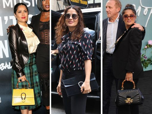 Just Can T Get Enough Salma Hayek And Her Gucci Bags