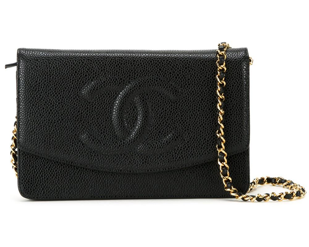 71def6a794c1 Vintage Chanel Embossed Wallet On Chain $3,159 via Farfetch