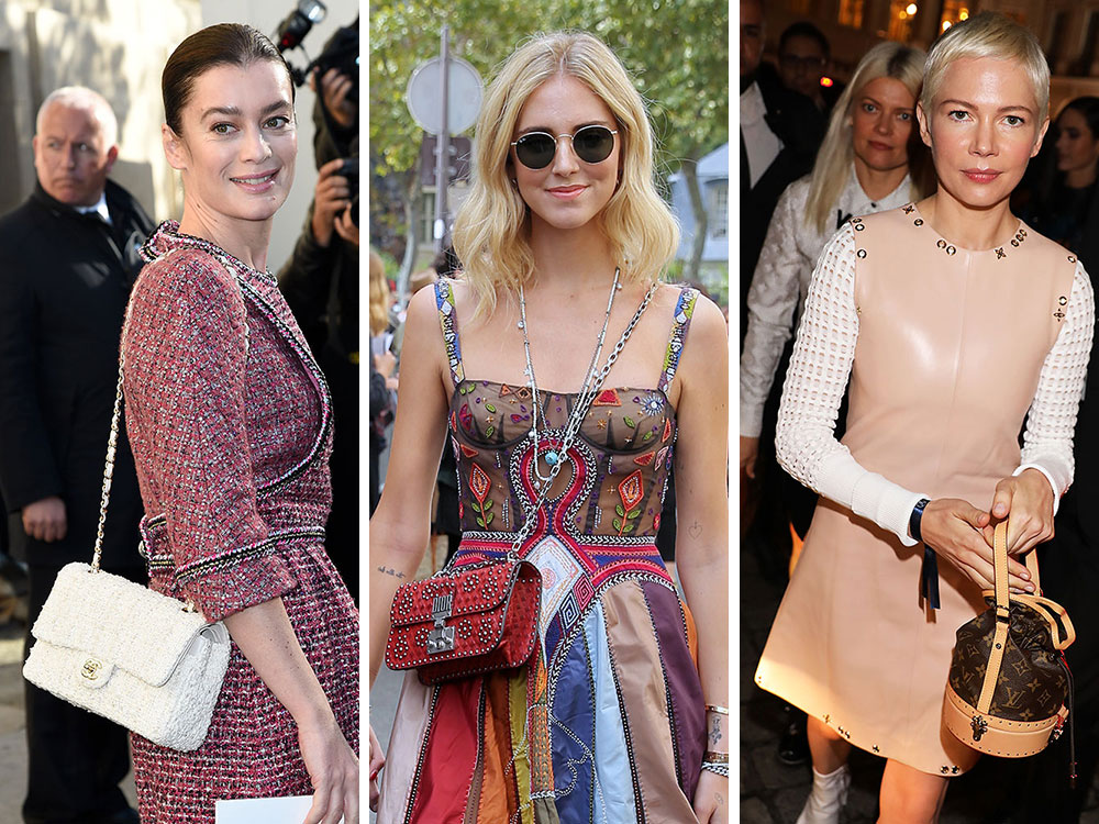 0ca9292e189 The Many Bags of Paris Fashion Week Spring 2018 s Celebrity Attendees