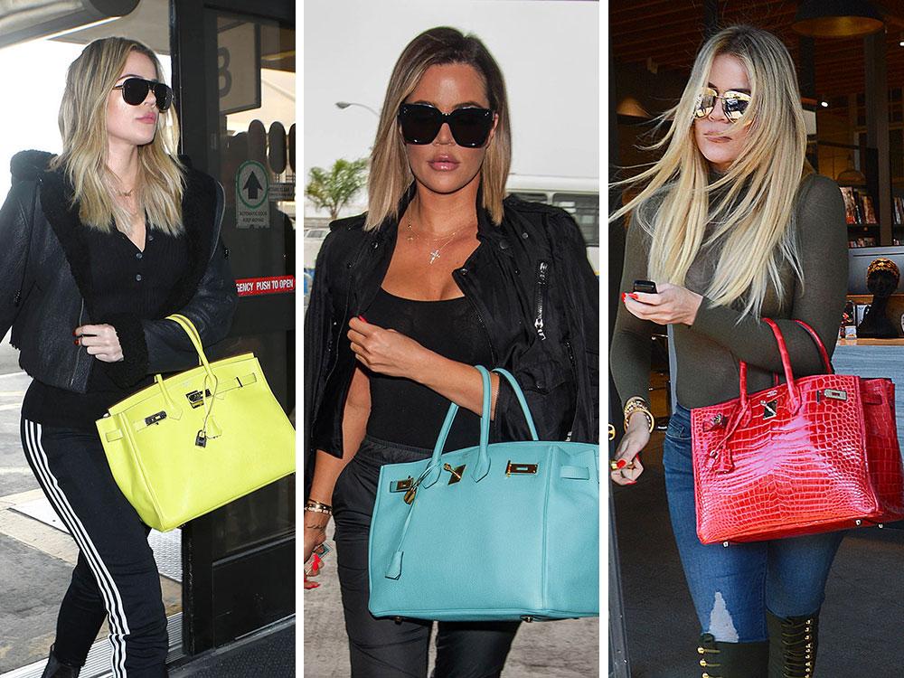 f02e83920c1a Just Can t Get Enough  Khloé Kardashian Loves Her Colorful Hermès Birkins