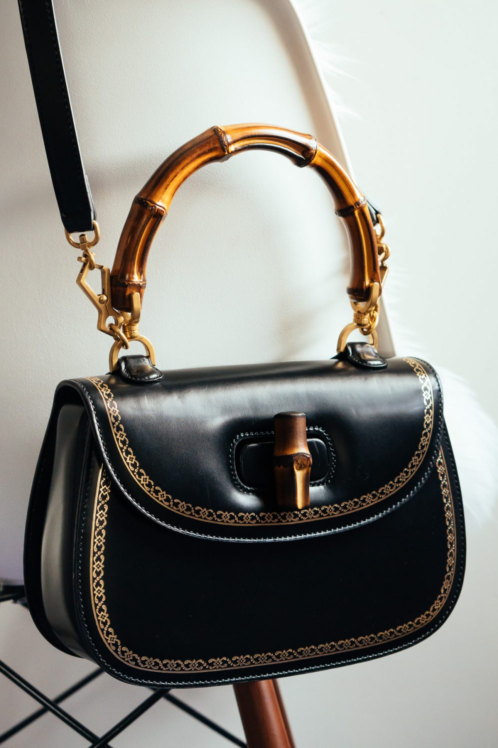 loving lately guccis bamboo classic frame top handle bag