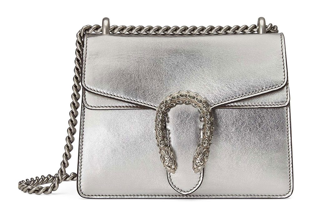 392cfac9f87 Metallic Silver Bags are Fall 2017 s Most Versatile Color Trend ...