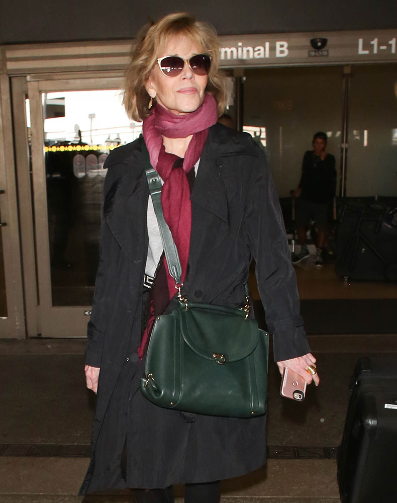 2045877efbb5f6 She is currently making the rounds to promote her new flick Our Souls at  Night. Shop the Salvatore Ferragamo Sofia Bag via Bloomingdale's ($1,990)