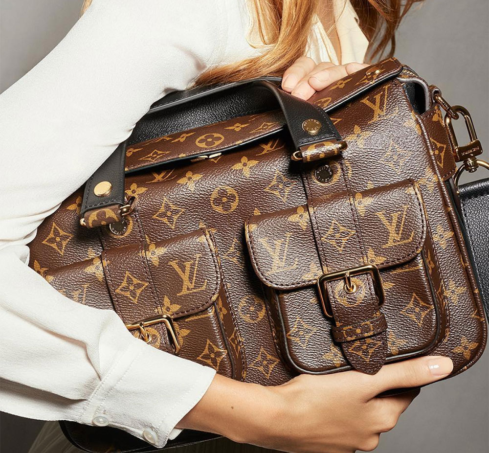 louis vuitton has relaunched the manhattan bag with a whole new look