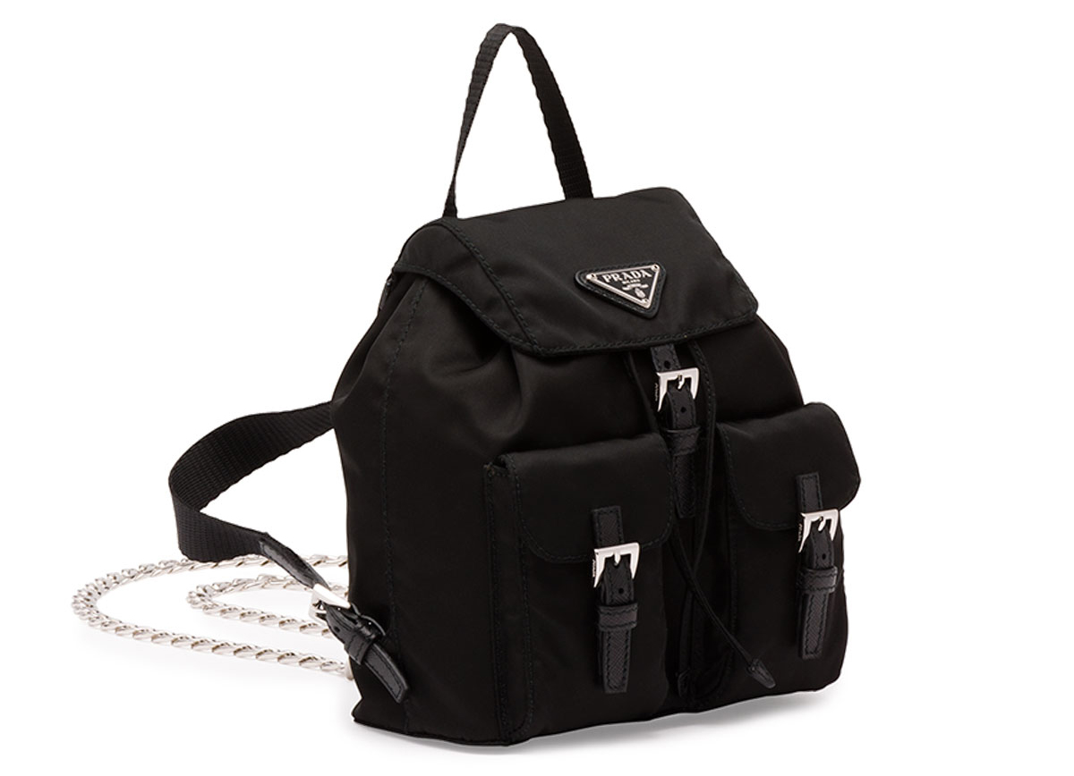 Prada Vela Mini Crossbody Backpack Bag