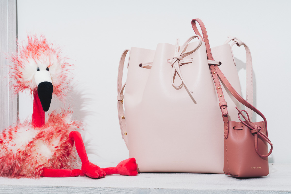 932f811bf1c5 Mansur Gavriel came out with the Baby Bucket Bag and it is intended for  kids, so this is a great mommy and me bag for Millie and I.