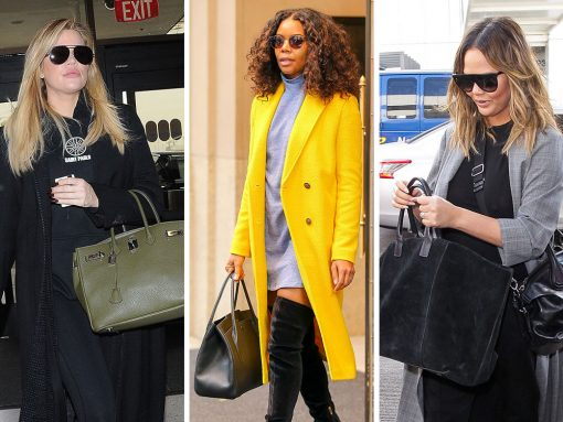 This Week, Celebs Flew with Sizable Carryalls from Aerin, Givenchy and Louis Vuitton