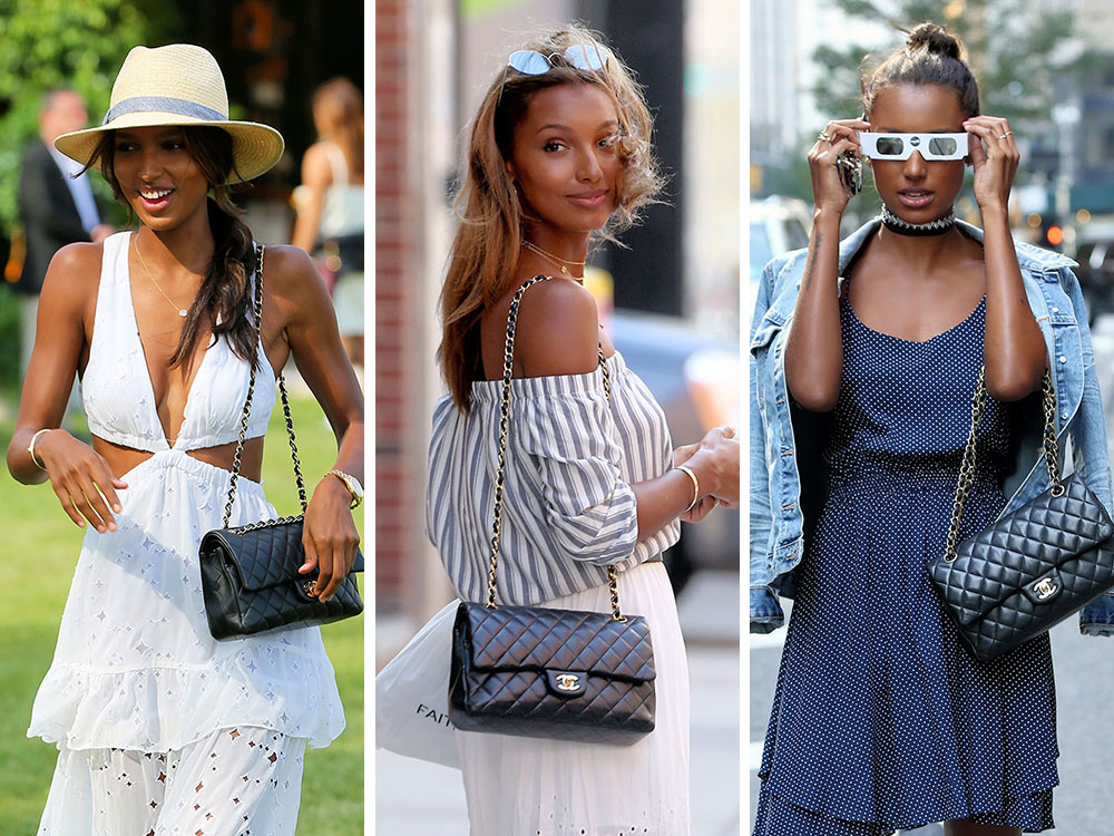 0819cfb1ddb2bb Just Can't Get Enough: Jasmine Tookes and Her Chanel Classic Flap Bag