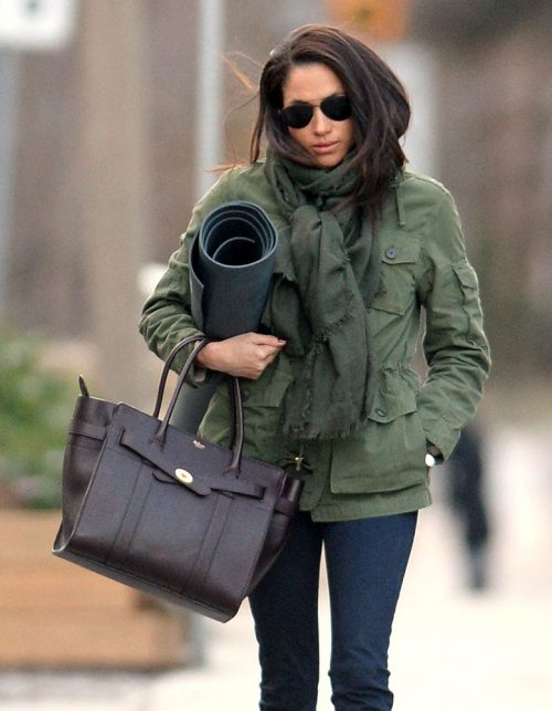 Meghan Markle Mulberry Zipped Bayswater Bag Purseblog