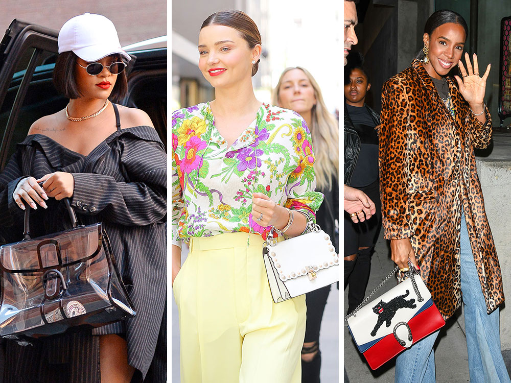 66efcbf46894 The Best Celebrity Bag Looks of 2017 - PurseBlog