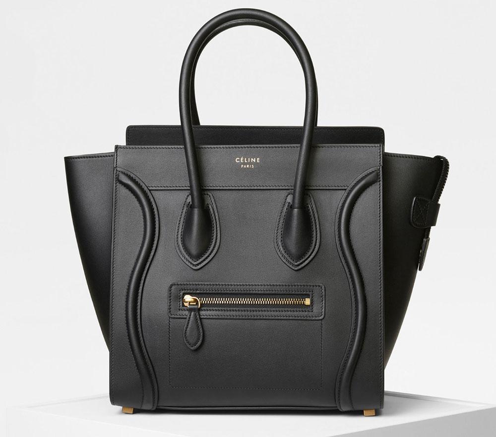 Celine Micro Luggage Tote Black 2900