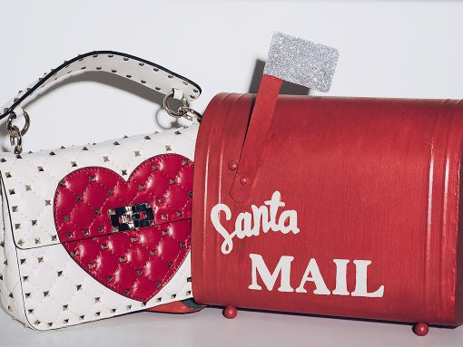 Valentino Spike Heart Bag
