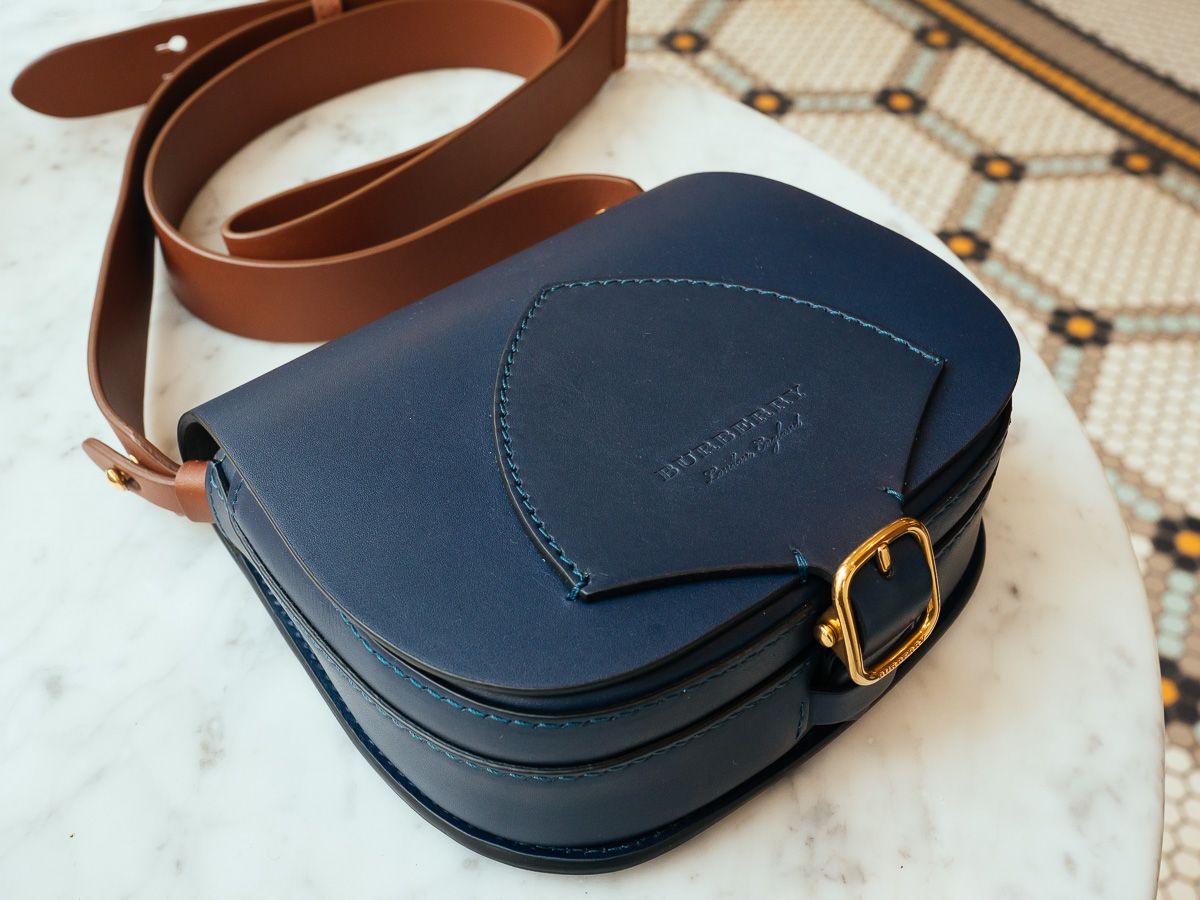 51d211b93 Meet Our Latest Bag Crush: The Burberry Satchel in Indigo Leather ...