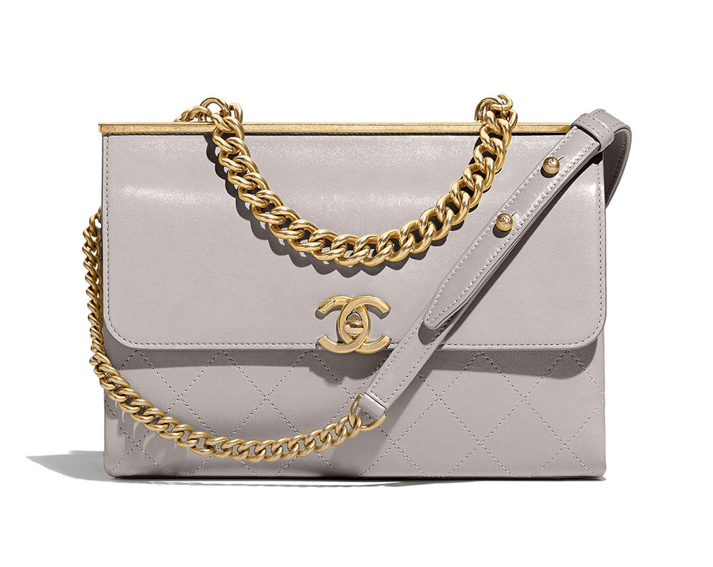 10d40dc53705 Chanel-Flap-Bag-Gray-4800 - PurseBlog