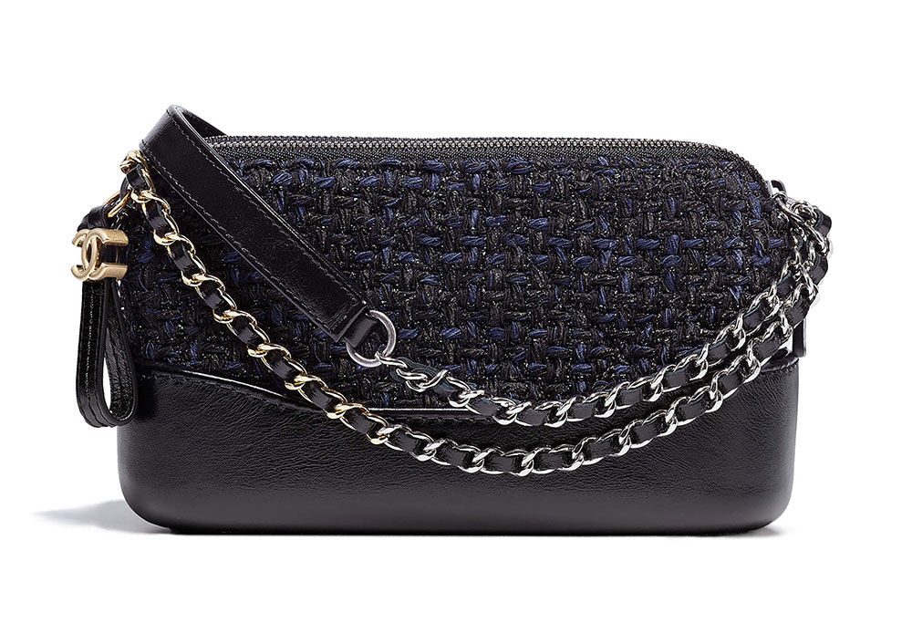 81353202b45d Chanel-Gabrielle-Clutch-with-Chain-Tweed-Black-2400 - PurseBlog