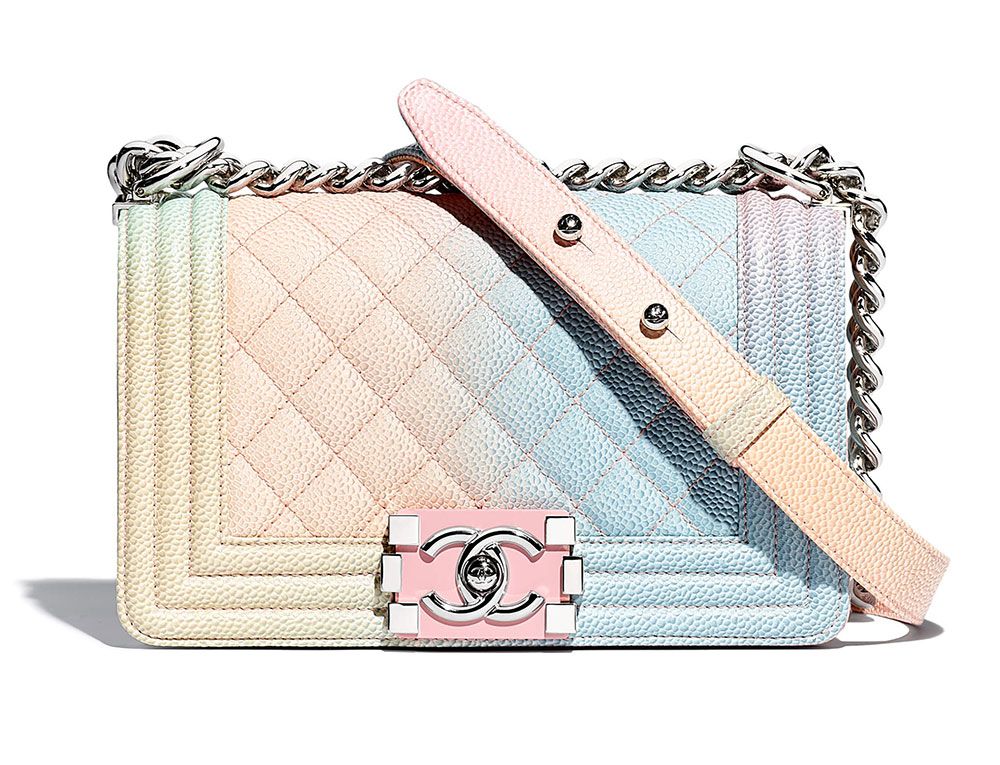 bdf146c9c89f Rainbow Chanel Boy Bags are Back for Pre-Collection Spring 2018 ...