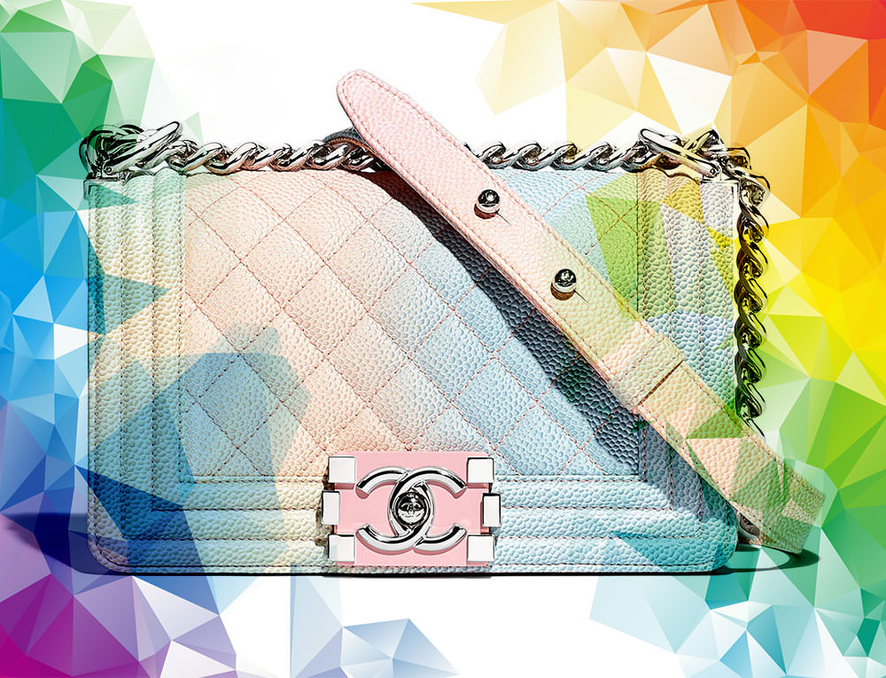 25dd4e5f45d5 Rainbow Chanel Boy Bags are Back for Pre-Collection Spring 2018, Along With  a New Mini Size