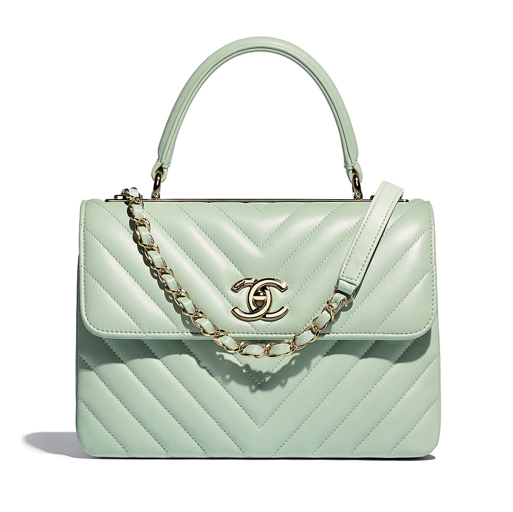 771a236e8e5b Chanel-Small-Flap-Bag-with-Top-Handle-Green-5600 - PurseBlog