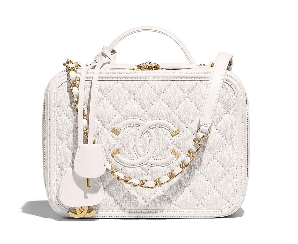 Chanel Vanity Case White 4500 Purseblog